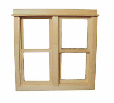1:12 Scale Working Wooden Double Sash Window Frame Dolls House Accessory 185