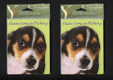PUPPY DOG BIRTHDAY PARTY INVITATIONS THANK YOU CARDS LOT