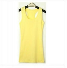 Basic Women's Solid Tank Top Racer Back Cami Vest No Sleeve T-Shirt 14Types Free