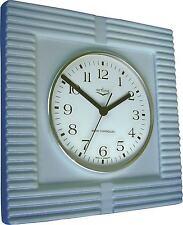 "211061f orologio da cucina in ceramica"", blu metallizzato, extra grande ""JUNGHANS OROLOGIO RADIO M. vetro"