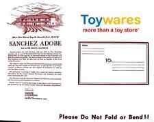 Vintage Sanchez Adobe - Monte Paper Model from Toywares