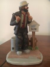 "Emmett Kelly Jr. porcelain figurine, ""On The Road Again"", Signed by Ekj"