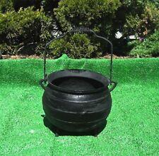Cauldron Kettle Pot / Planter -  Tripod Legs Bail Handle Cast Iron