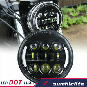 "Brightest 5-3/4"" 5.75"" LED Projector Headlight DRL Turn Signs for Motorcycle"