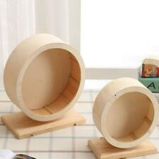 New Wood Wooden Exercise Wheel Small Pet Hamster Rodent Mouse Accessory Toys 6L