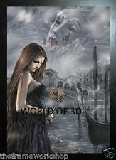 Victoria Frances Negro enmarcado Fair Lady de Venecia - 3D culto Foto 365 X 465mm
