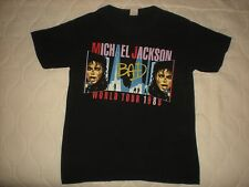ORIGINAL TRUE VTG 1988 MICHAEL JACKSON BAD WORLD TOUR CONCERT T SHIRT THIN 50/50