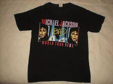ORIGINAL TRUE VTG 1988 MICHAEL JACKSON BAD WORLD TOUR CONCERT T SHIRT THIN 50/50