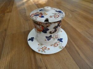 Keeling & Co Tokio Pattern Jam pot with lid on stand 1909-1937