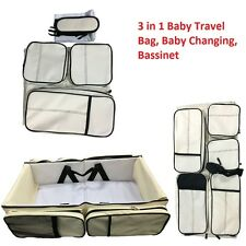 3 In1 Foldable Baby Infant Travel Bag Bed Crib Portable Diaper Changing Bassinet