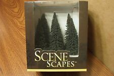 "BACHMANN SCENE SCAPES HO SCALE 5"" - 6"" PINE TREES  (6) TREES/BOX"