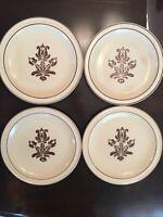 "Pfaltzgraff Vintage USA ""Village"" 4 Dinner Plates - 10 1/4"" Diameter - Stoneware"