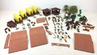Marx miniature playset Covered Wagon attack Custers Last Stand Apache Horse HK
