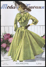 MODES ET TRAVAUX FRENCH FASHION VINTAGE MAGAZINE MAY 1948 COVER LANVIN