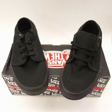 1f9a680aa3fa71 New Vans Mens Vulcanized Black Lace Up Canvas Sneaker Shoes Left 7 Right 7.5