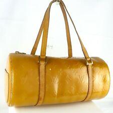 Auth LOUIS VUITTON BEDFORD Hand Bag Purse Monogram Vernis Leather M91006 Beige