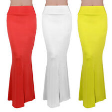 Long High Waisted Elegant Maxi Long Skirt Solid Color Elastic Bust Skirt
