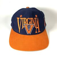 VTG UVA Virginia Cavaliers Snapback Wahoos 90s The Game Cap Green Bill Spellout