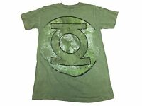 DC Comics Green Lantern Faded Oversized Logo Justice League Men's T Shirt S-2XL