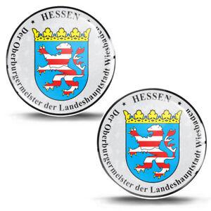 3D Gel Domed Sticker Badge Hessen Stadt Wiesbaden German Number Plate Seal