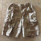 Boy's Size 7 Faded Glory Vintage Camo Cargo Shorts