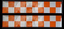 Self Adhesive Reflective Battenberg Side Reflectors 500mm Decal Orange/white