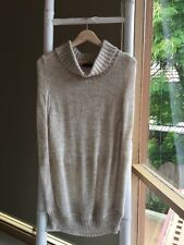 Lovely NICHE APPAREL Oatmeal Wool Blend Roll Neck Sweater Jumper Poncho XL EUC