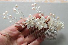 Bridal Hair Comb Pearl Wedding Hair piece Bridal hair comb Floral headpiece