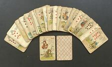 Antique Lenormand Fortune Telling Oracle Cards Deck VTG Early 1900s