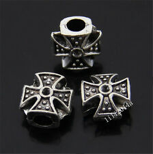 15x Retro Tibetan Silver Cross Spacer Beads Accessories Wholesale  PL351