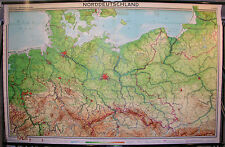 Schulwandkarte Map North Germany Pommern East Prussia West Prussia 1963 241x154
