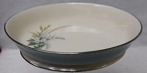 "FLINTRIDGE china TRUE LOVE PEACOCK pattern Oval Vegetable Serving Bowl - 10"""