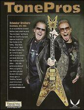 Michael & Rudolf Schenker Brothers Signature V Dean Guitar Tonepros 8 x 11 ad