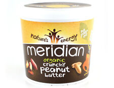 Meridian Natural Organic Crunchy Peanut Butter 1kg No Added Palm Oil Sugar Salt
