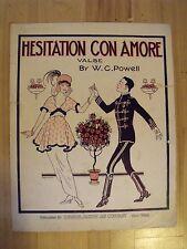 "Grim Natwick 1914 ""Hesitation Con Amore"" sheet music – Betty Boop artist"