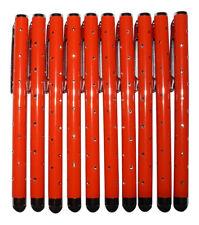 10x Orange Stylus Touch Pen pedrería óptica Tablet celular atiende lápiz Glamour