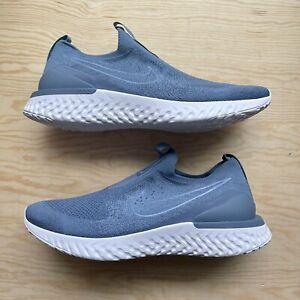 Nike Epic Phantom React Flyknit Running Shoes BV0417-401 Size 13 Ocean Fog Mens