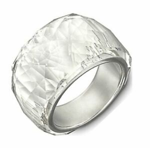Swarovski Genuine Nirvana and Nirvana Petite Clear Crystal Cocktail Ring