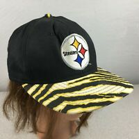 Vintage Pittsburgh Steelers Zubaz Striped 80's Snapback Hat Cap PRO LINE USA