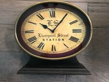 Liverpool Station Railroad table clock by Interlude