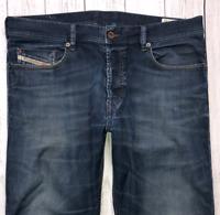 Mens DIESEL Tepphar Jeans W33 L32 Blue Slim Carrot Wash 0R82H_STRETCH