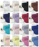 """Extra Deep Fitted Sheets 40cm / 16"""" Deep Single Double King Super King Fitted"""