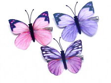 Gorgeous Children Butterfly Clips Lovely Coloured Snap Clips Hair Sleepies