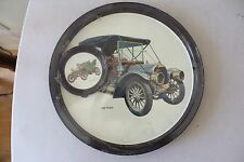 Vintage Car Metal Tray with Coasters 1909 Welch New! L#721