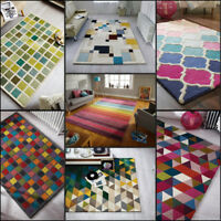 Modern 100% Wool Hand Tufted Quality Rug, Multi Colours, in Various Sizes Carpet