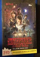 2018 Topps Stranger Things Season 1 Sealed Hobby Box - 2 Hits