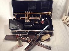 Brass Bundy Trumpet, EC Vintage 1970s + many accessories +case, 1 Original Owner