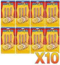 10x COLEGIO Premio Deporte Día Oro Plata Bronce Winners plástico MEDALLAS T41