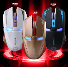 Iron Man 2.4GHz Wireless 2400DPI 6D NAFFEE G5 6 Buttons Optical Usb Gaming Mouse