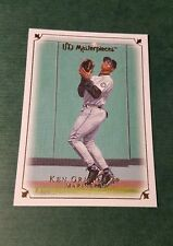 Ken Griffey Jr Seattle Mariners Upper Deck UD Masterpieces HOF